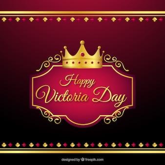 Ornamental victoria day Hintergrund mit Krone