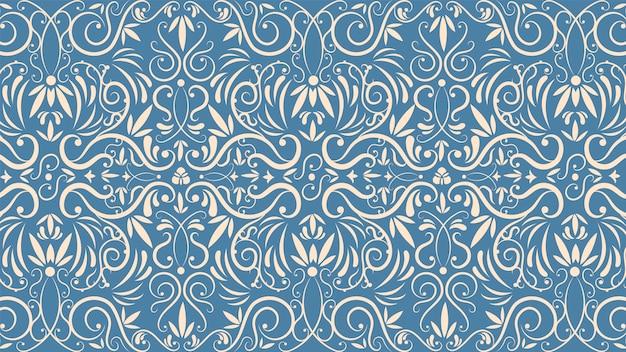Ornamental vintage tapetenkonzept