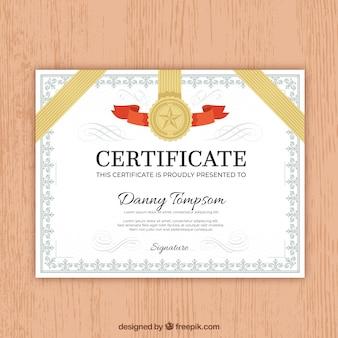 Ornamental zertifikat grenze mit vintage-stil