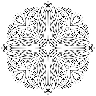Ornamentale mandala malbuchseite