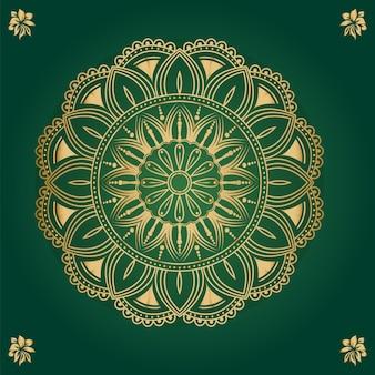 Ornamentale runde spitze mit arabesken-mandala-design
