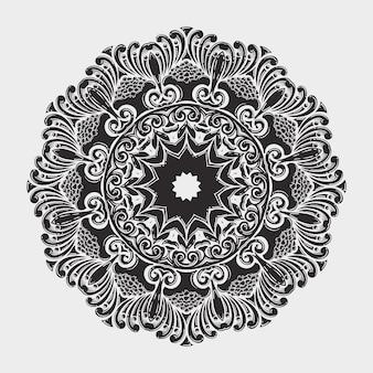 Ornamentale rundspitze mit damast- und arabeskenelementen.