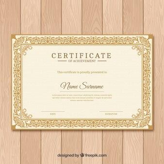 Ornamentale zertifikatgrenze