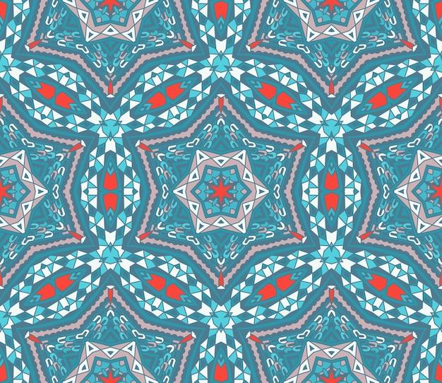 Ornamentaler dekorativer hintergrund des weinlesewinterweihnachtsgekritzelmosaiks