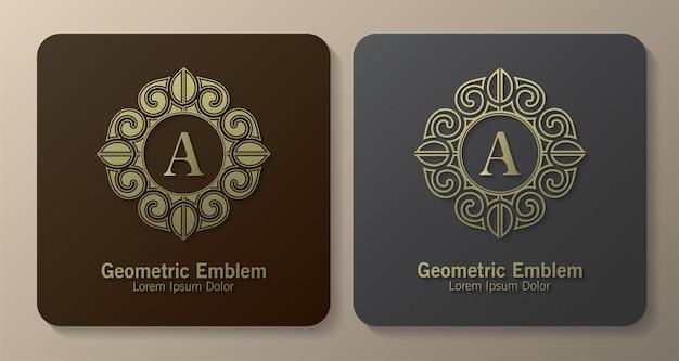 Ornamentaler luxusbuchstabe ein logo