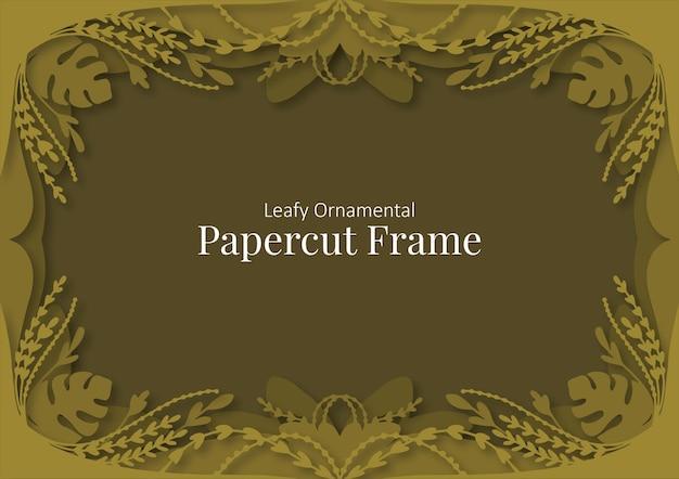 Ornamentaler scherenschnittrahmen Premium Vektoren