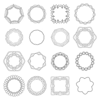 Ornamentales rundes lochmuster. abstrakte verzierung. orient traditionelle ornamente.