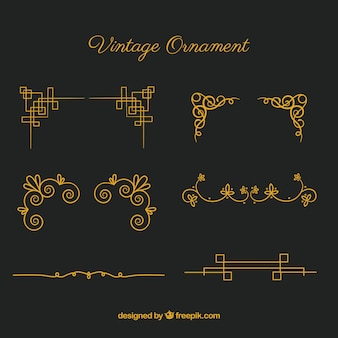 Ornamente sammlung im vintage-stil