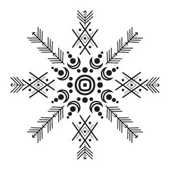 Ornamente und pfeile im stammesstil. ornamentale musterdesign-kollektion der amerikanischen ureinwohner. vektor-illustration