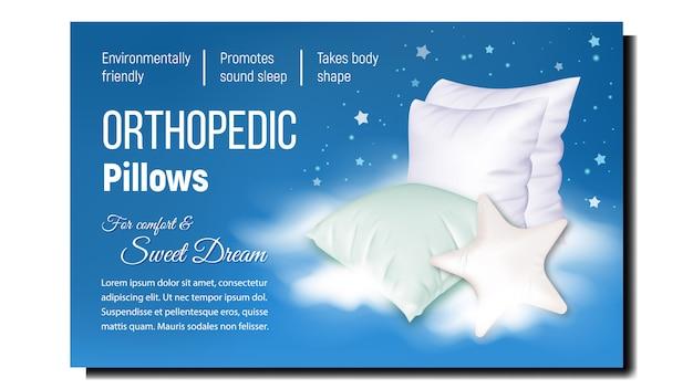 Orthopädische kissen für komfort schlaf banner,