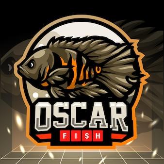 Oscar fisch maskottchen esport logo design