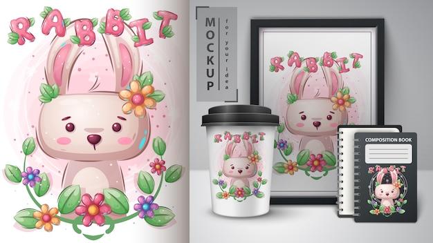 Oster-kaninchen-merchandising
