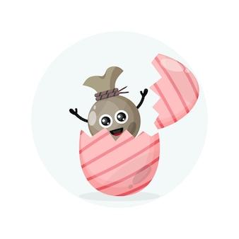 Osterei geldsack süßes charakter maskottchen