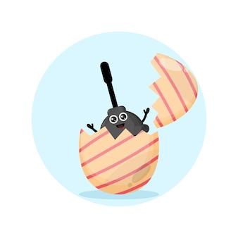 Osterei-toiletten-vakuum niedliches charakter-maskottchen
