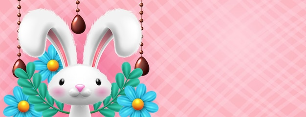 Ostereier mit kaninchen
