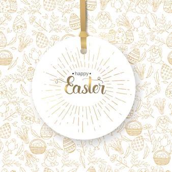 Osteretikett mit handgemachter trendiger beschriftung