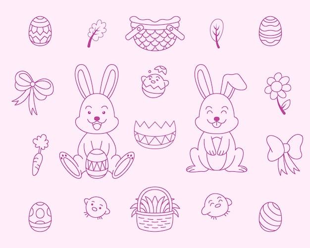 Osterhase und eier