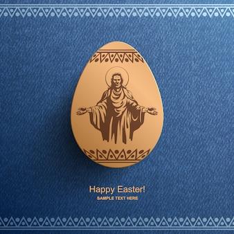 Osterkarte mit einem bild von jesus christus, osterhintergrund