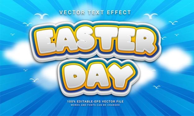 Ostern 3d-text-effekt mit frohe ostern effect