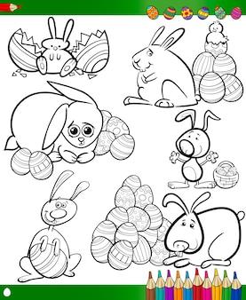 Ostern cartoons für malbuch