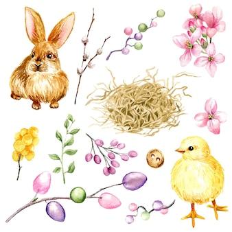 Ostern clipart set mit eiern illustration design