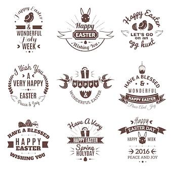 Ostern-emblem eingestellt