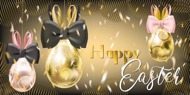 Ostern-gala-goldene eier mit bunny bow