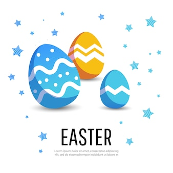 Ostern-hintergrund mit modernen bunten eiern.