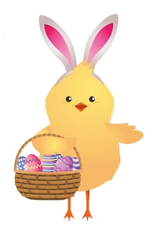 Ostern hühnchen cartoon