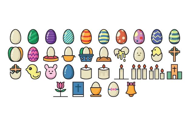 Ostern-icon-set
