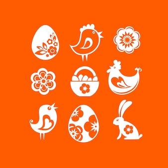 Ostern ikonen gesetzt