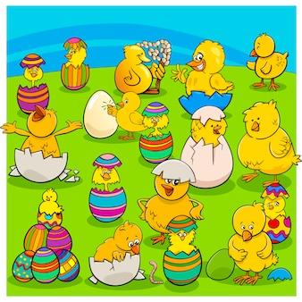 Ostern-kükengruppen-karikatur