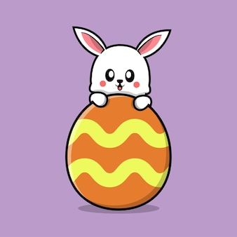 Ostern mit süßem hasen