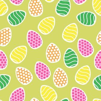 Ostern nahtloses muster mit kleinen feiertagseiern - perfekt für tapeten, geschenkpapier, musterfüllungen, webseitenhintergrund, frühlings- und ostergrußkarten