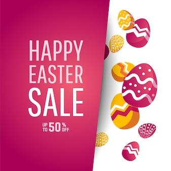 Ostern sale banner mit platz für text.