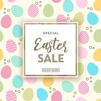 Ostern verkauf banner hintergrundvorlage