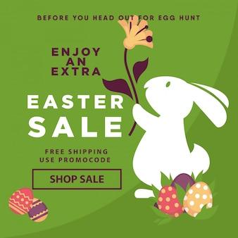 Ostern-verkaufsweb-plakatschablone