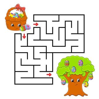 Osterthema. quadratisches labyrinth.