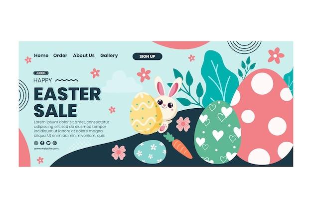 Osterverkauf landingpage vorlage