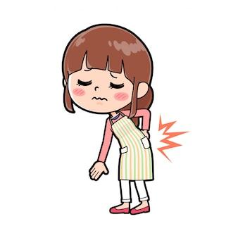 Out line apron mom rückenschmerzen