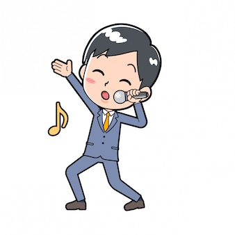 Out line businessman song hochspannung