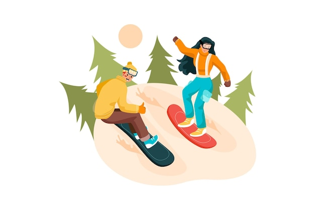 Outdoor-aktivitäten illustration konzept