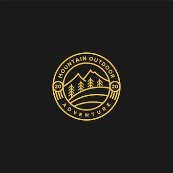 Outdoor berg natur-logo