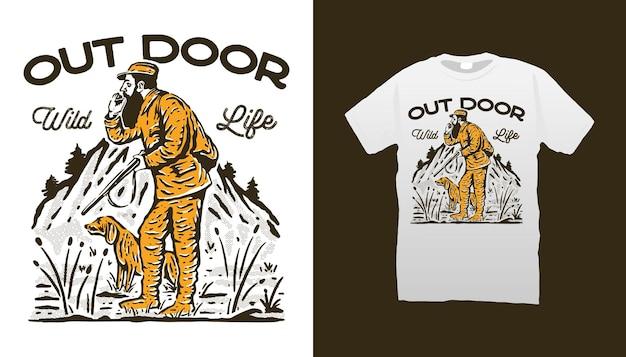 Outdoor-jagdillustration