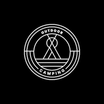 Outdoor-logo abzeichen vorlage