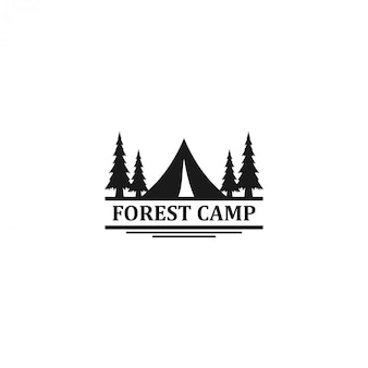 Outdoor-logo von berg und abenteuer