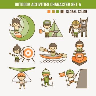 Outdoor sport zeichensatz