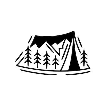 Outdoor- und abenteuer-embleme, aufkleber, etikettenabzeichen