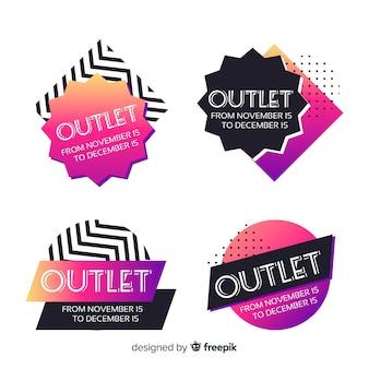 Outlet-abzeichen-sammlung