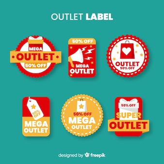 Outlet-label-sammlung